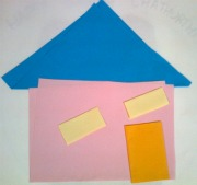 Origami house done by child at Ekadaksha Learning Center, Chennai